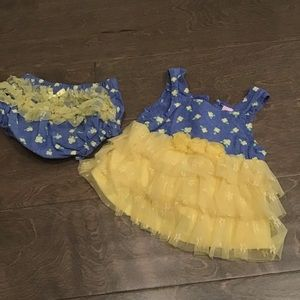 Little Lass Baby 3/6 Month Dress Diaper Cover